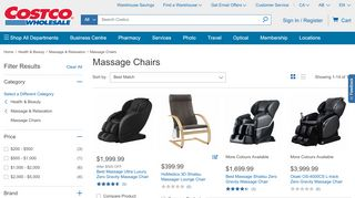 Costco Massage Chairs