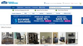 Lowe's Office Furniture